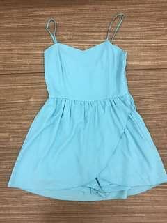 🚚 Mint Blue Romper Dress CLEARANCE