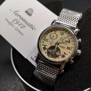 Aeromatic 德國飛行腕錶 (奶茶面 Openheart - A1422MIL)