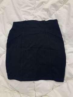 Pull & Bear Black Bandage Skirt