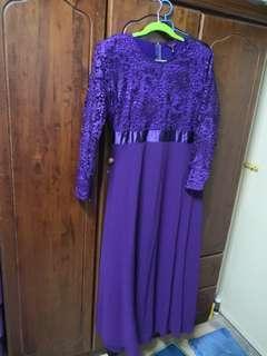 Lace Jubah Dress Plus Size 46