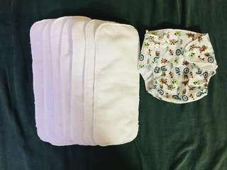 Bundle of 7 curity diaper inserts