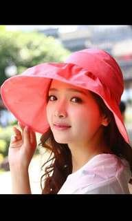 Woman UV prevention hat - Red