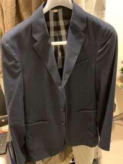 Burberry 男裝 深藍色 休閒西裝褸 smart casual 46碼 99%新 原價$9000