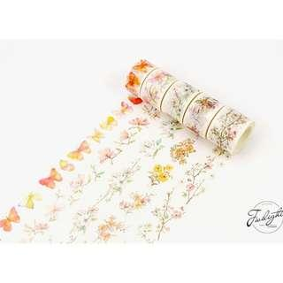 Floral Watercolour Washi Tape