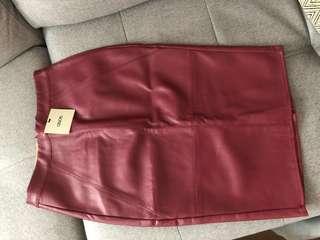 ASOS Vegan Leather Skirt - Size 2