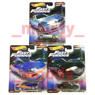 Hot Wheels Nissan Skyline GT-R (BNR34), Nissan Silvia (S15), Nissan Skyline GT-R (BNR32)