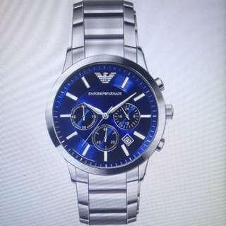 Original AR2448 Emporio Armani Classic Blue Watch