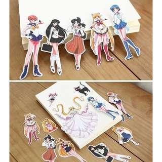 🚚 11pcs Sailor Moon Anime Stickers
