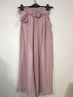 🚚 全新 韓貨 粉色寬褲