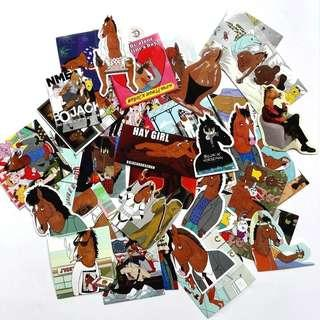 🚚 40pcs Bojack Horse Man PVC Stickers