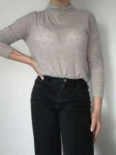 Aritzia Wilfred Mock Neck Long Sleeve