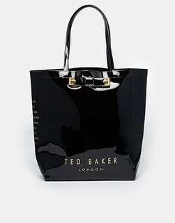 Clearance: Ted Baker Emacon Plain Bow Icon Bag - Black