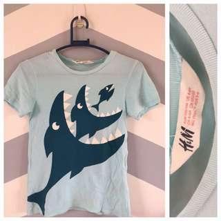 H&M Blue Shark Shirt