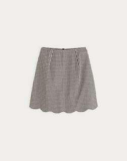 Black Gingham Skirt