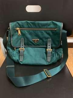 ***PRADA Sling Bag 100% AUTHENTIC!!! (Pattina in vela colour petrolio)***