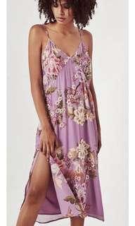 Spell blue skies lilac slip dress XS