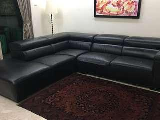 L Shape Leather Sofa Genuine leather