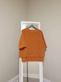 *reduced* COS orange sweater