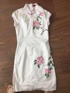 🚚 2 for $12 Ladies white cheongsam silk