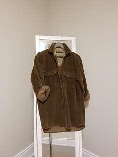 *reduced* oversized brown corduroy jacket