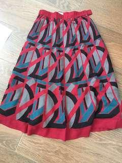 Midi printed skirt