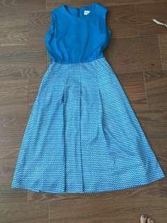 Miss Onwards vintage dress in blue