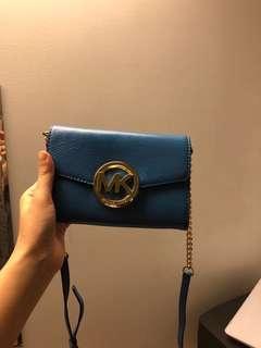 MK blue crossbody bag