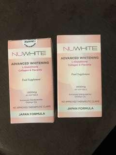 NUWHITE Advanced Whitening L-Glutathione collagen & placenta 60 caps