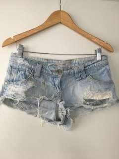 $5 SALE Denim low rise shorts by River Island - Sz 8