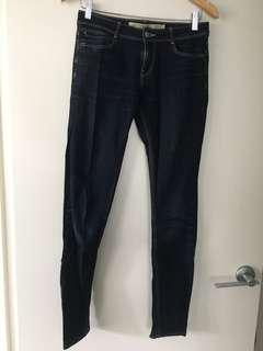 $10 SALE Zara dark blue denim skinny jeans - EUR 36/Sz 8