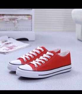 🚚 Red Canvas Sneaker