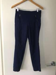 $15 SALE Blue Navy ZARA tapered work pants - Sz S