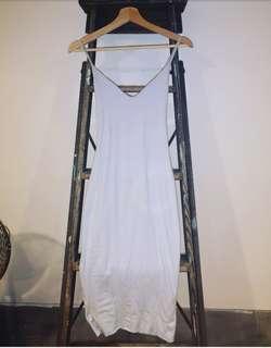 Powder blue kookai bodycon midi dress. Size 1