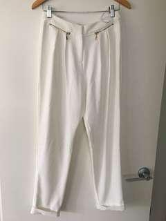 SHEIKE white cream cuffed pants - Sz 10
