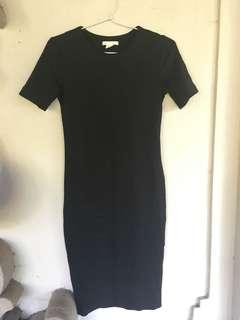 Bodycon black dress h&m