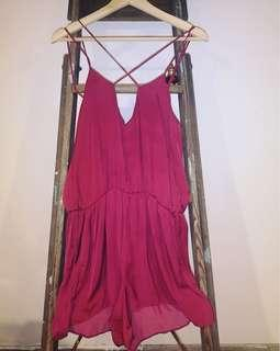 Glassons silk playsuit. Size 8