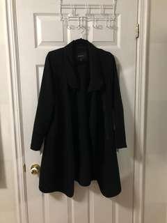 Babaton Aritzia Black Long Duster Jacket