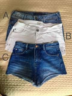 Zara Denim Short jeans