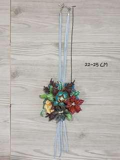 Kalung Bunga Batik kombinasi warna