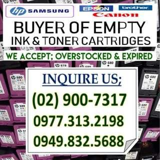 HIGHEST PRICE BUYER 9F EMPTY INK AND TONER  CARTRIDGES