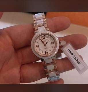 鐵達時女裝施華洛水晶陶瓷石英錶,全新原廠兩年保養