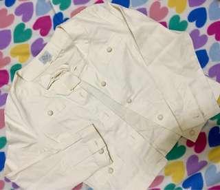 White Blazer Top