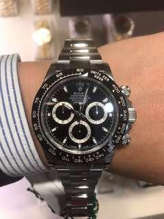 勞力士Rolex Daytona 116500 black dial full set