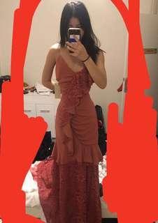BNWT KEEPSAKE rrp$300 formal LACE GOWN DRESS SZ S
