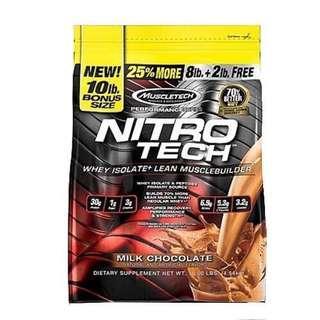 LAST ONE🔥 Muscletech Nitrotech 10 Lbs