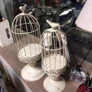 🚚 法式鄉村風裝飾鳥籠 燭台 擺飾品