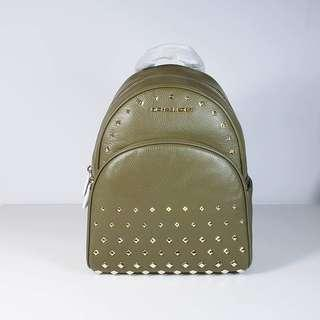 Michael Kors - Abbey Olive MD Studded Backpack