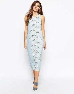 🚚 Whistles Palm Print Midi Dress