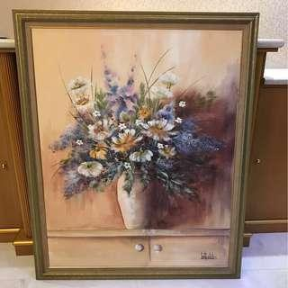 Vase of Flowers - Painting