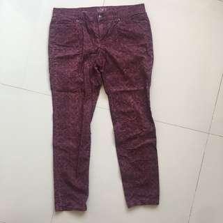 BN Ann Taylor Purple Jeans